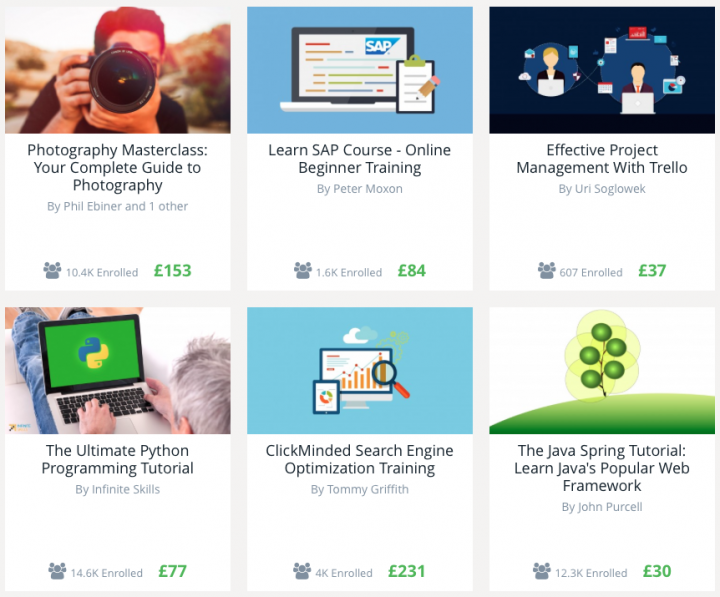 Courses on Udemy